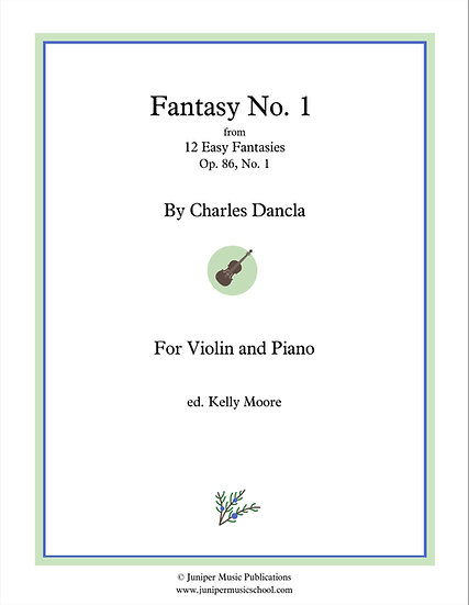 Fantasy No. 1, Op. 86 No. 1 for Violin and Piano by Charles Dancla