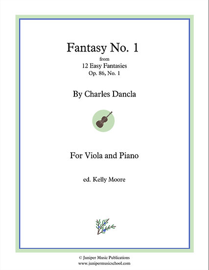 Fantasy No. 1, Op. 86 No. 1 for Viola and Piano by Charles Dancla