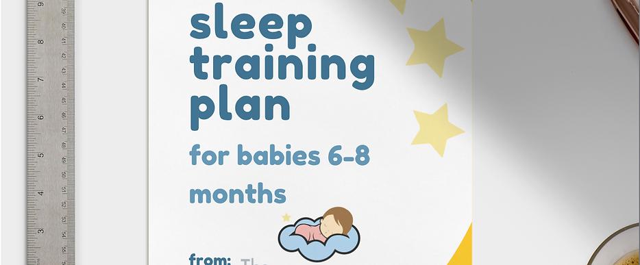 e-Zzz Sleep Training Plan 6-8 months