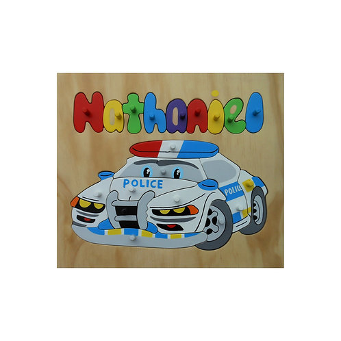 Police Car Name Puzzle