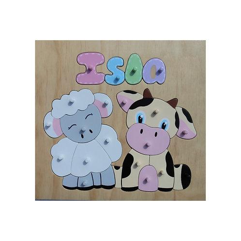 Farm Animals Name Puzzle