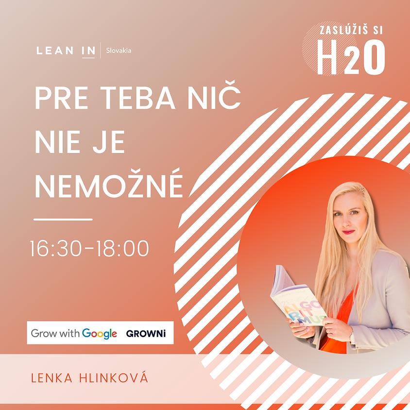 """H2O event: Workshop """"Pre Teba nič nie je nemožné"""""""