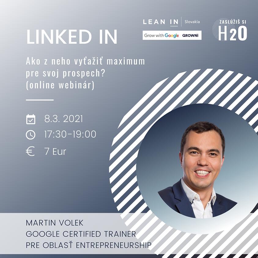 H2O VIP event: LinkedIn: Ako z neho vyťažiť maximum  pre svoj prospech? (online webinár)