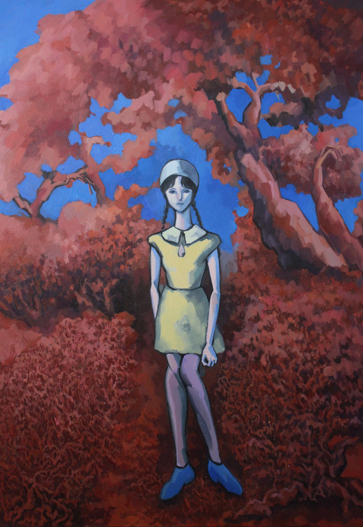 숲을 거니는 요코_130x97cm_Oil on canvas_2020.jp