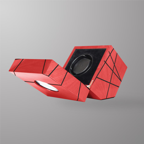 Ivar Time Lines Watch Winder Red Marquetry