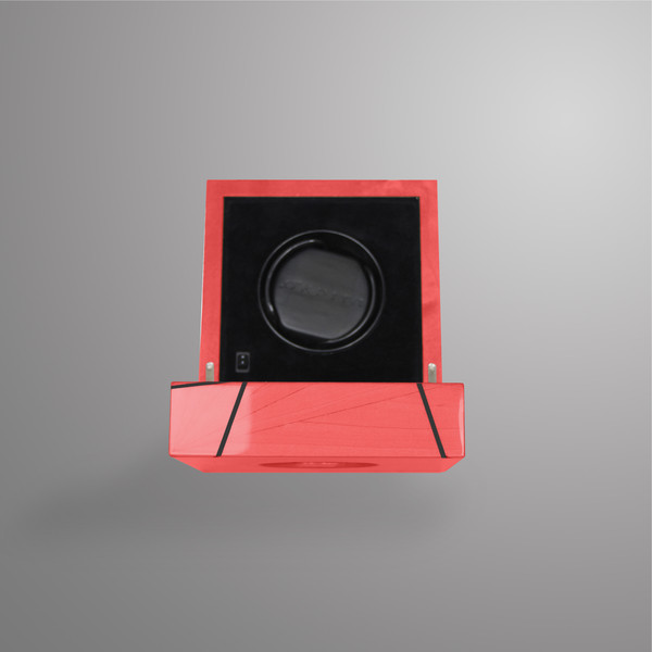 Ivar Time Lines Watch Winder Red Glass