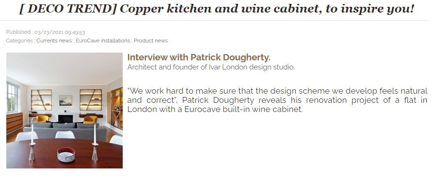 Eurocave - Copper kitchen and wine cabinet, to inspire you!