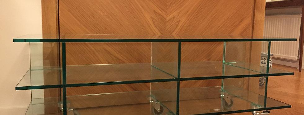 Glass media cabinet