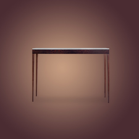Ivar Pelham Console Table Walnut Skinny