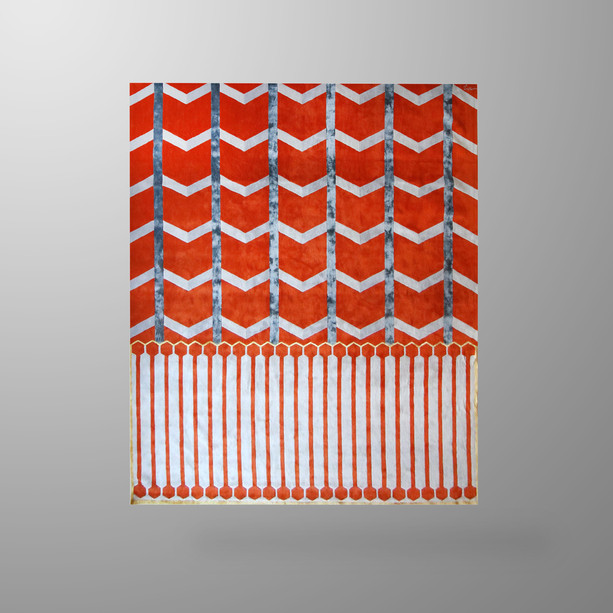 Ivar Centre Point Rug Orange Big Wool