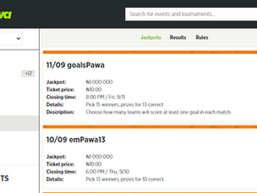 BETPAWA NIGERIA JACKPOT RESULTS SINCE AUGUST 2020