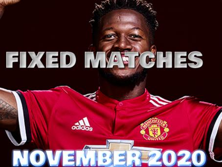FIXED MATCHES NOVEMBER 2020