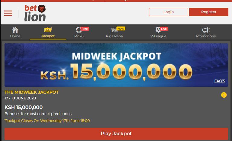 betlion jackpot results