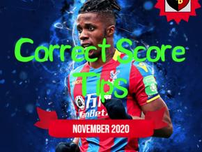 Correct Score Tips November 2020