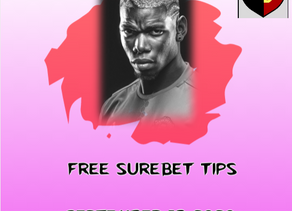 SUREBET TIPS TODAY 18TH SEPT (FREE)