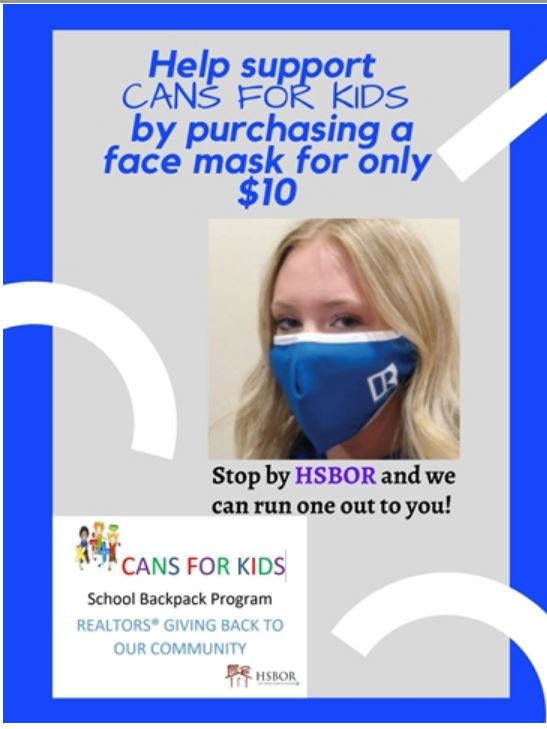 Mask Sale benefiting CANS FOR KIDS