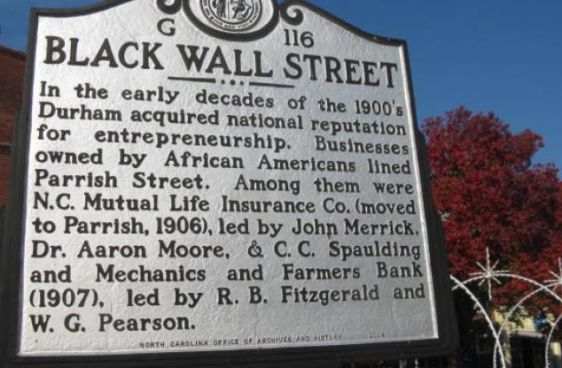Black Wall Street Historical Marker