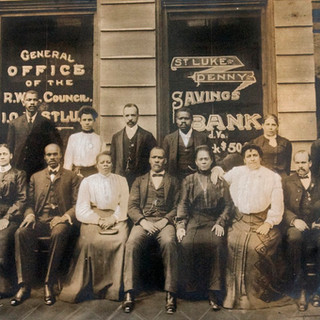 The St. Luke Penny Savings Bank in Richmond was one of the first black-owned banks in the United States