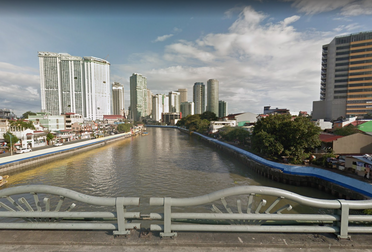 Makati-Mandaluyong Bridge, Pasig River, Makati, Manila, Philippines