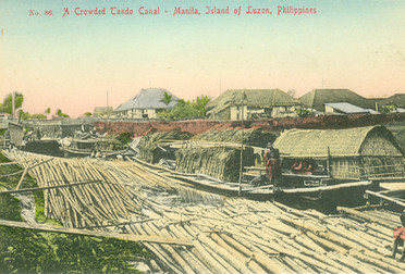 A Crowded Tondo Canal - Manila, Island of Luzon, Philippines