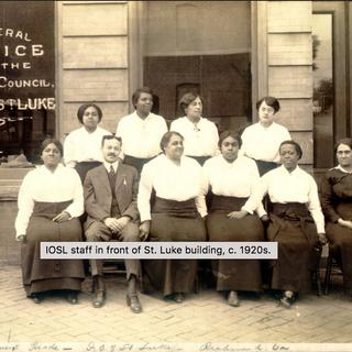 IOSL staff in front of St. Luke Building