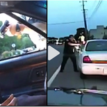 Police dash camera and cellphone video capturing Police Officer Jeronimo Yanez fatally shooting Philando Castile during a routine traffic stop