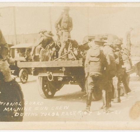 National Guard Machine Gun Crew during Tulsa Race Riot 6-1-21