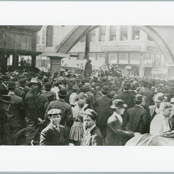 Photograph of the lynching of Allen Brooks in Dallas, Texas