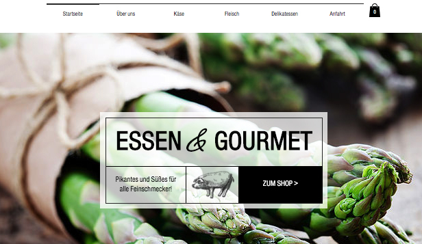 Online-Shop website templates – Feinschmecker-Shop