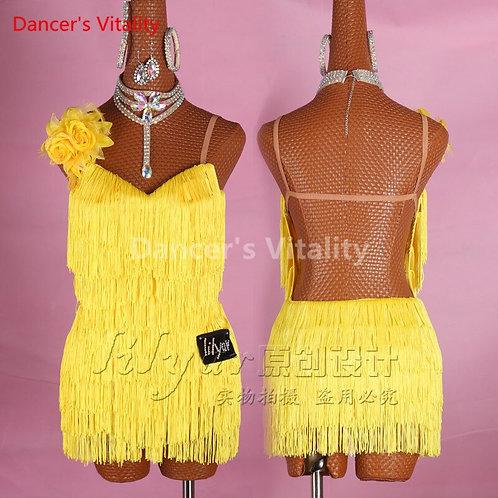 New Custom-Made  Dress Sexy Sleeveless Tassel Rhinestone