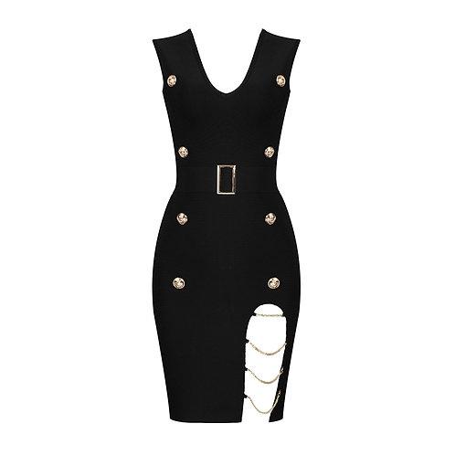 TYJC BLACK CHAINES Dress