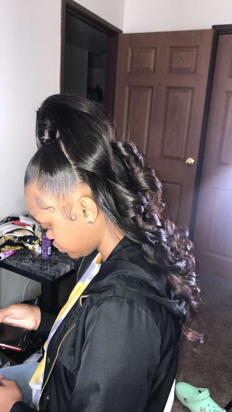 Half up half down ponytail $150