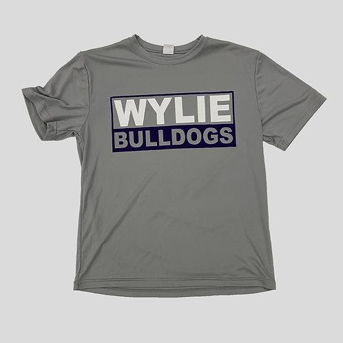Youth Gray Wylie Bulldog Dry Fit
