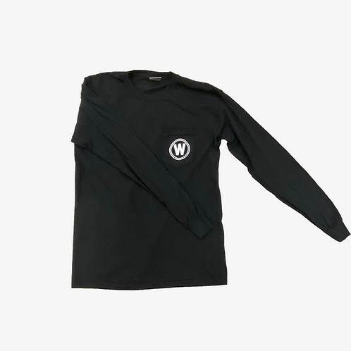 Long Sleeve Black Wylie Repeating Comfort Colors