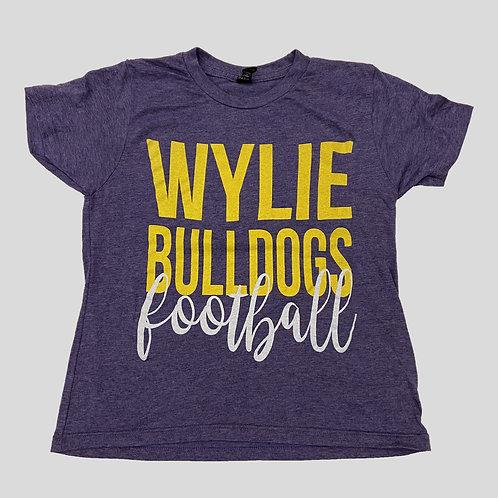 Youth Purple Soft Blend Wylie Bulldog Football
