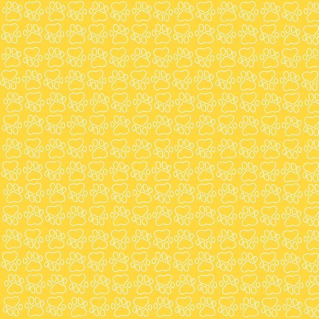 30. Yellow Paw Background