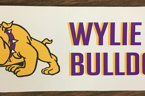 Wylie Bulldogs Window Decal