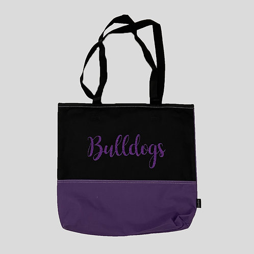 Bulldog Glitter Bag