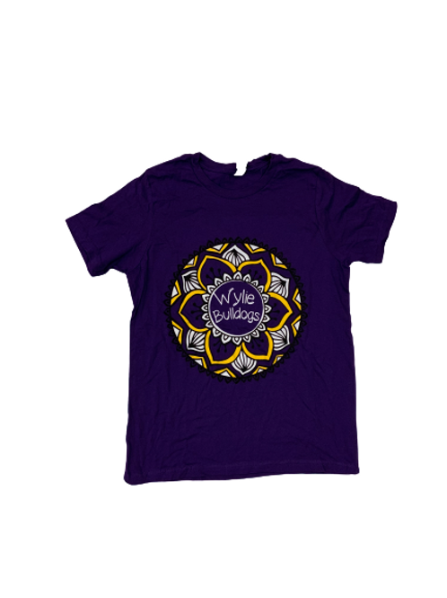 Youth Purple Flower Short Sleeve