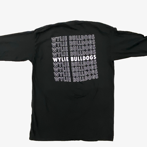 Long Sleeve Black Wylie Repeating Comfort Colors