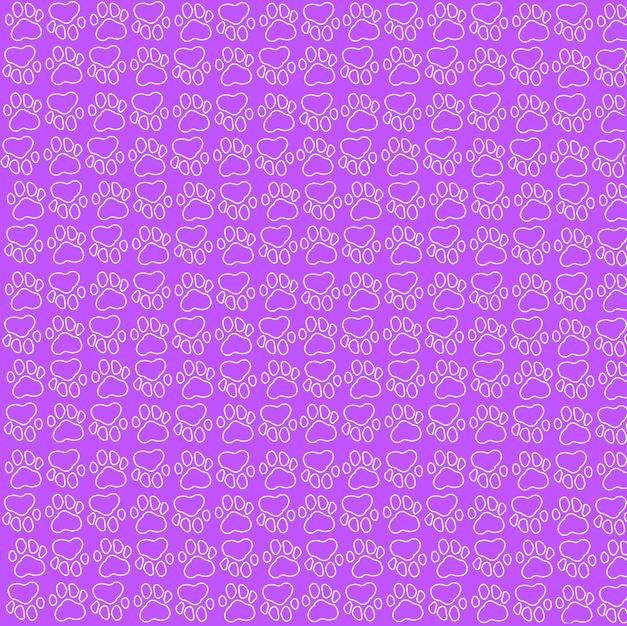 31. Purple Paw Background