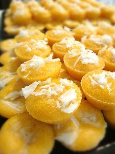 Kha-nohm Tarn Toddy Palm Cake by Patchmon's Thai Dessert, Toronto, Ontraio, Canada