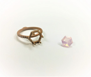 The rough Rose gold casting