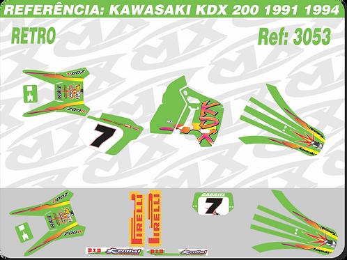 Adesivos Kawasaki Kdx 200 Retro