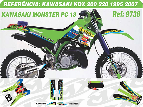 Adesivos Kawasaki Kdx 200 220 Monster Pc 13