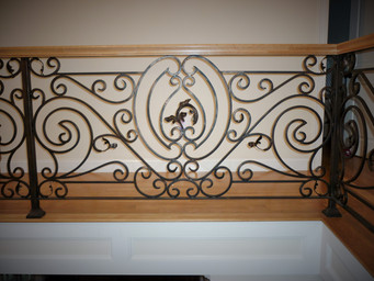 wrought iron small turned balusters