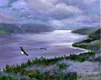 Eagles Over Misty Fjord