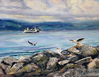 Edmonds Ferry and Gulls