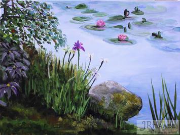 Irises and Waterlilies
