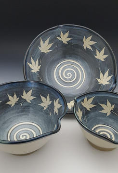 Bowls w/Japanese Maple Imprint